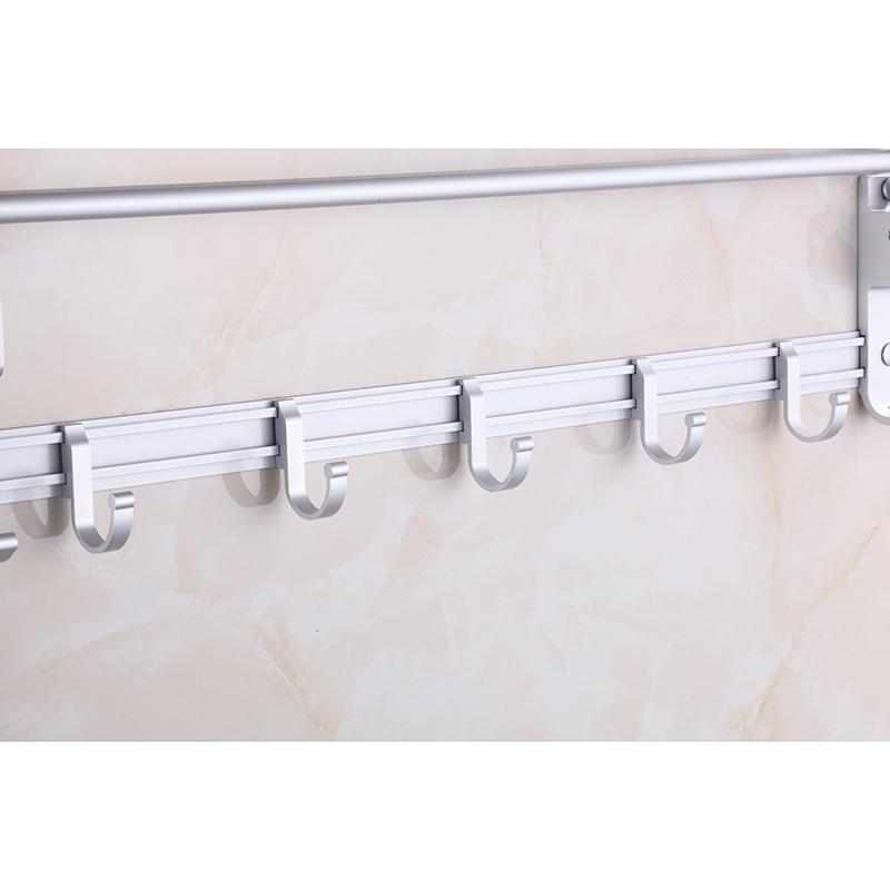 免打孔太空铝折叠毛巾架浴巾架浴室置物架卫生间五金挂件抖音同款
