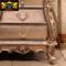 欧式床头柜实木雕花床边柜储物柜大理石带抽屉收纳柜卧室家具定制