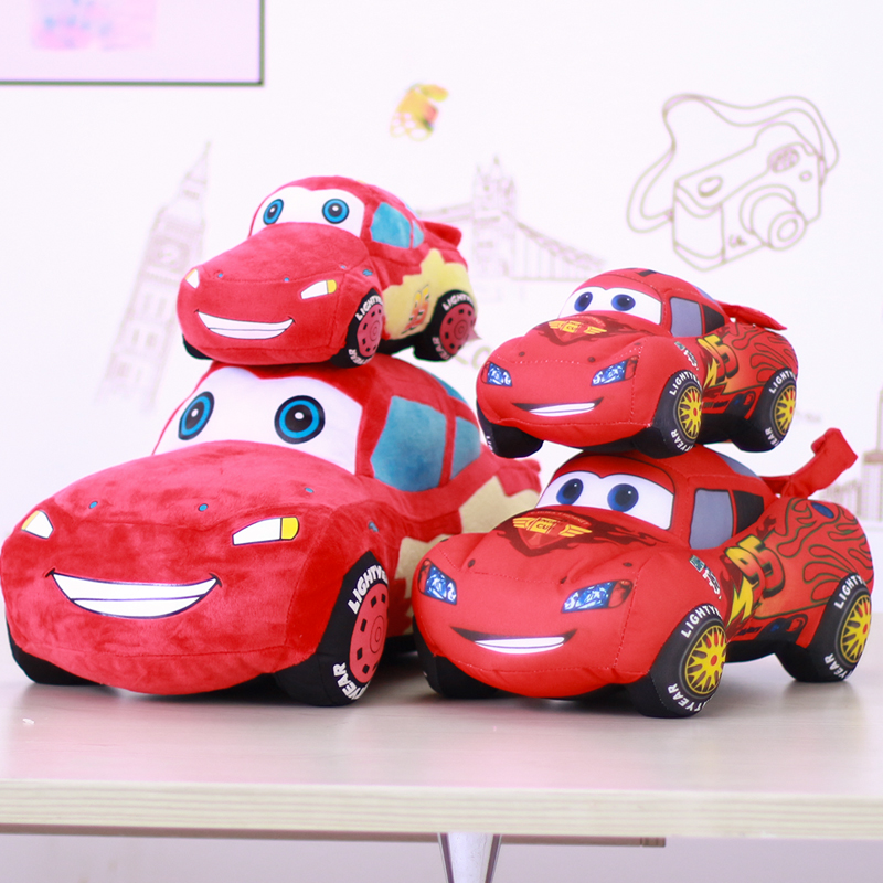 小汽车毛绒玩具闪电赛车布娃娃儿童玩偶床上睡觉抱枕麦昆公仔男孩