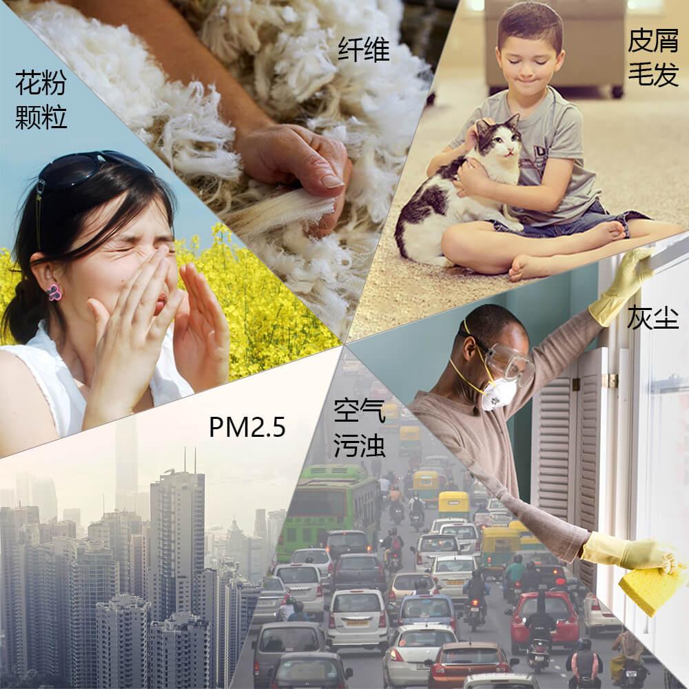 伍迪诺斯通用隐形鼻罩口罩防雾霾PM2.5粉尘花粉男女透气防尘鼻塞