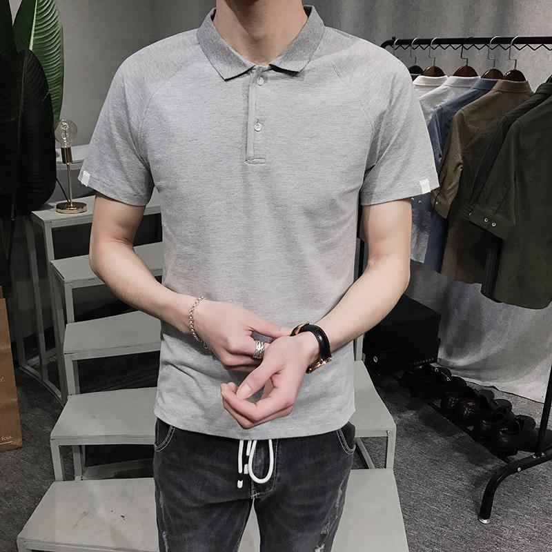 衫短袖商务男士 POLO 新款夏季男士纯色修身短袖翻领 2018