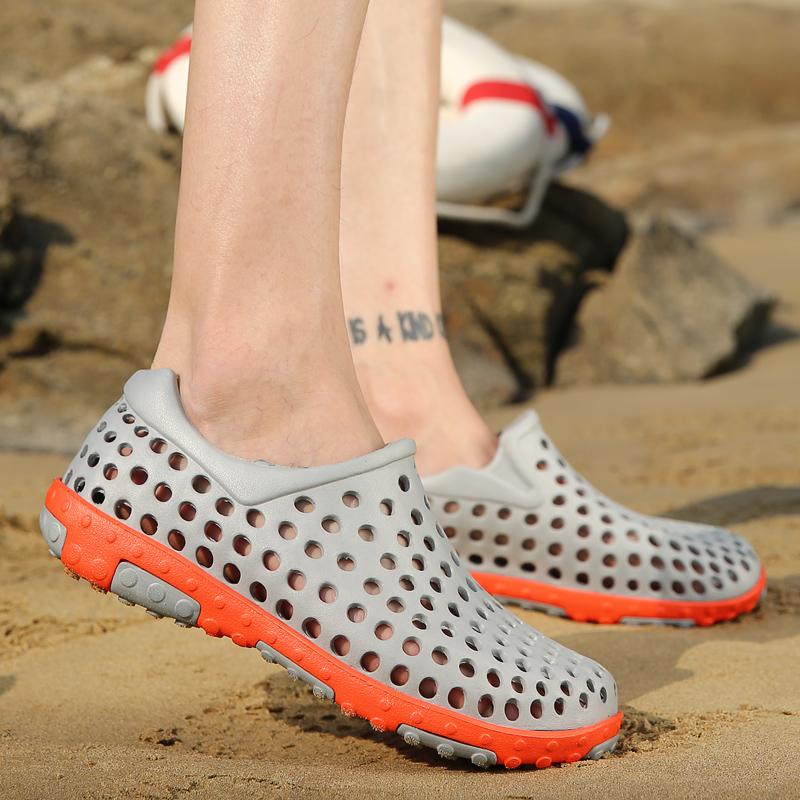拖鞋男士洞洞鞋2018夏季新款防滑沙滩鞋室外穿时尚韩版2019凉鞋男