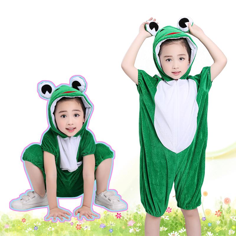 儿童动物表演衣服演出服装舞蹈大灰狼恐龙花猫咪鸭子小鸡老虎兔子
