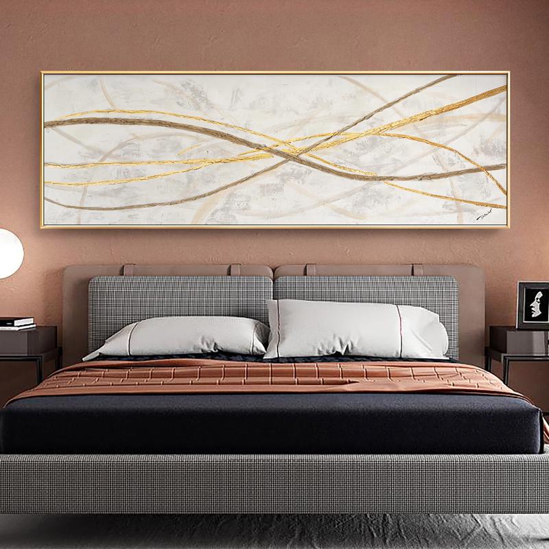 【撿漏】簡約現代客廳裝飾畫抽象手繪油畫床頭玄關掛畫沙發背景墻