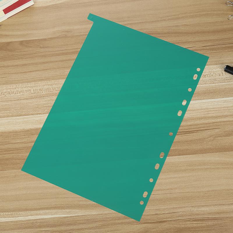 31页分类卡A4彩色隔页纸文件夹标签分隔页PP索引纸卡目录纸