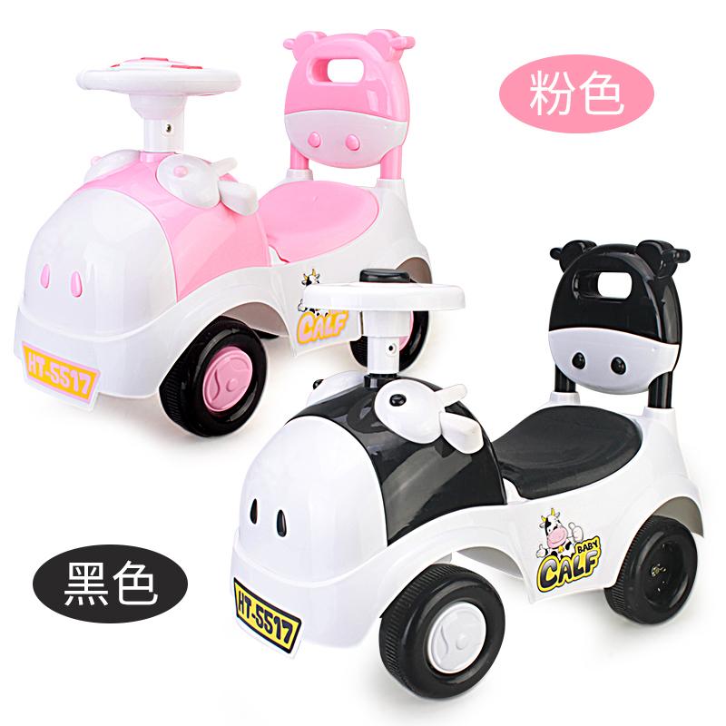 宝宝扭扭车1-3岁儿童玩具车可坐人带音乐宝宝溜溜车滑行车四轮