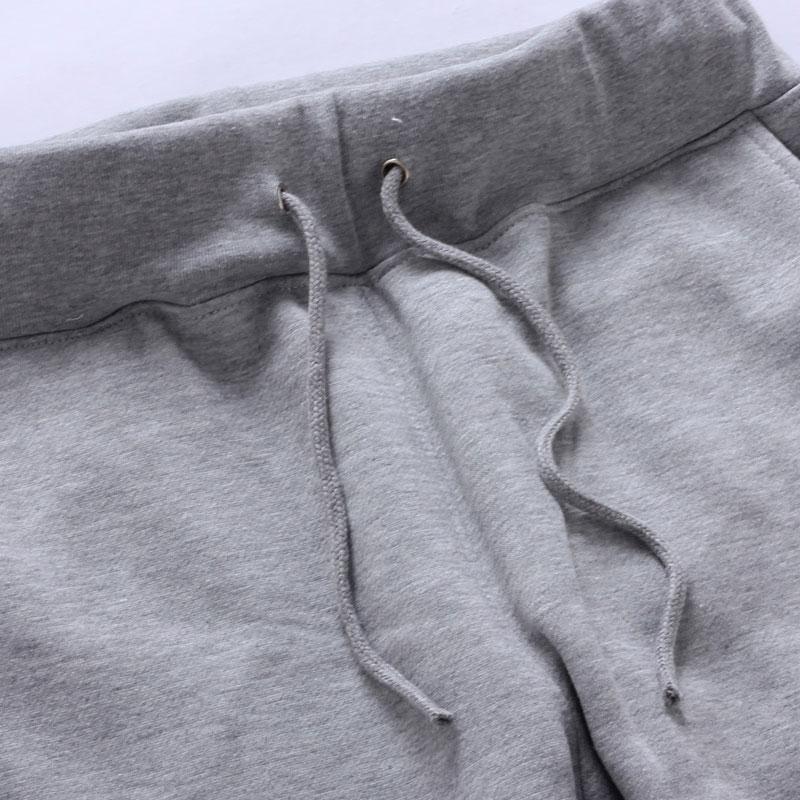 男士棉裤加绒加厚毛圈抓绒厚款冬季外穿直筒裤男麻灰 休闲运动裤