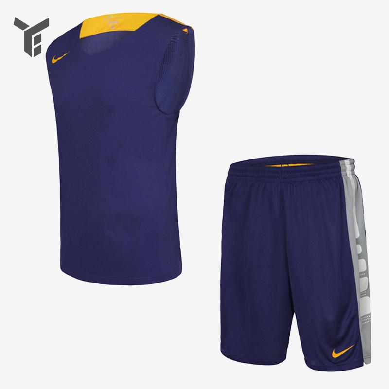 NIKE耐克男/女款训练比赛篮球服组队服T恤短裤 703215 703216
