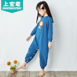上宝麦春秋新款儿童连体睡衣纯棉加厚宝宝睡衣连体动物连体衣保暖