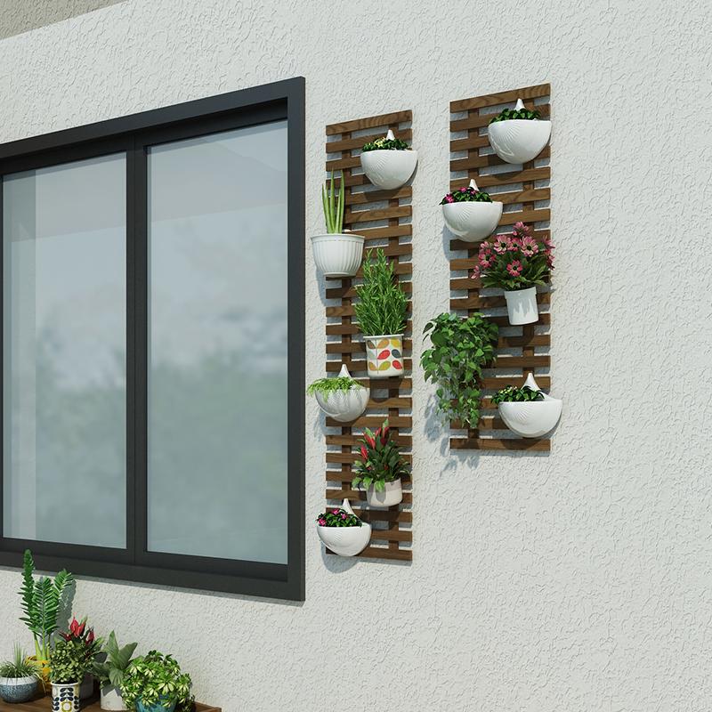 花墙架挂墙上花架阳台壁挂装饰墙面植物花架子悬挂式墙壁花盆挂架