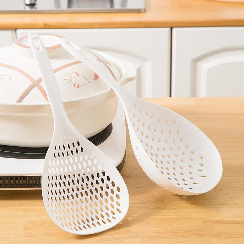 日本捞饺子大漏勺厨房长柄捞面条勺子家用火锅麻辣烫沥水捞勺滤网