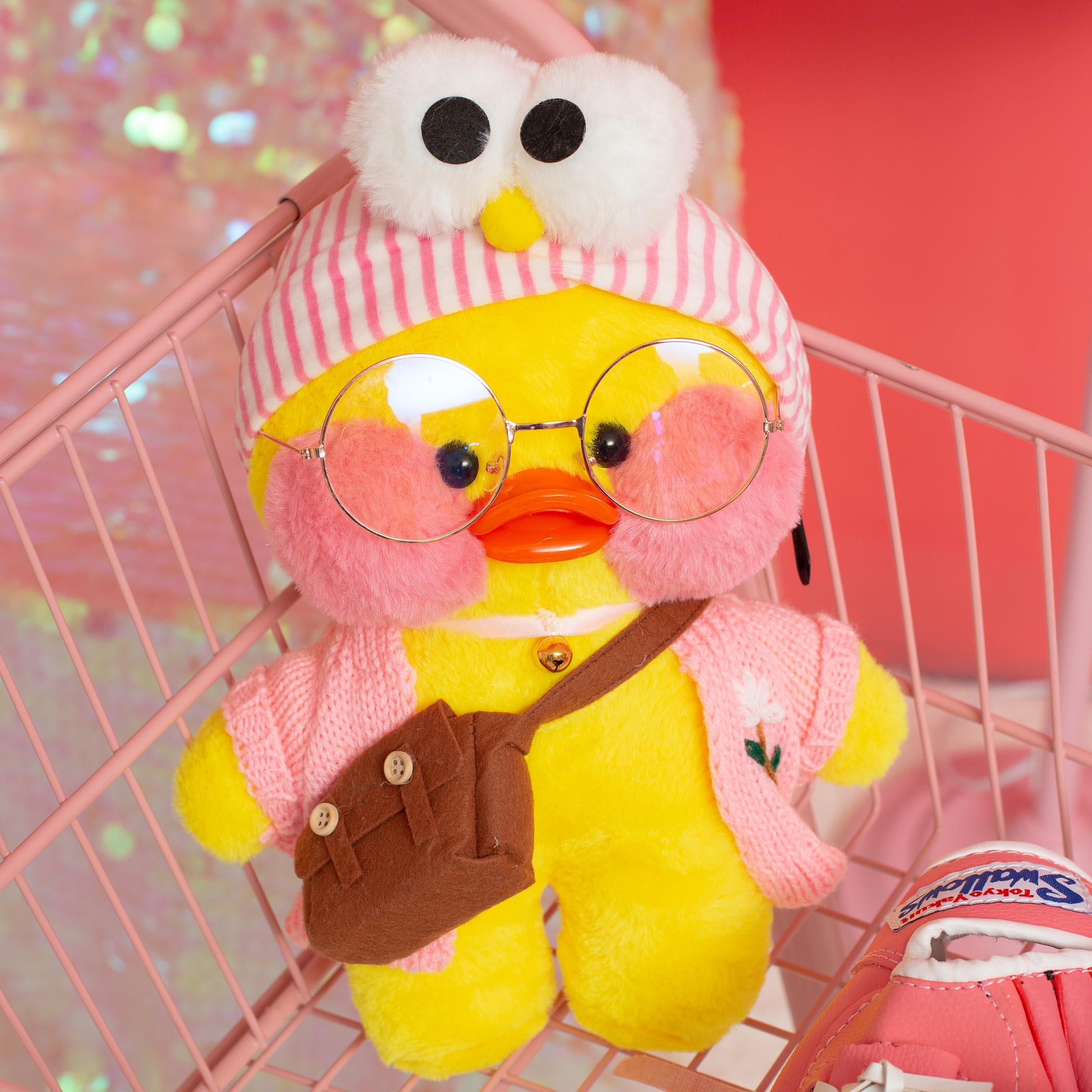 韩国网红玻尿酸小黄鸭玩偶公仔鸭子毛绒玩具公仔布娃娃生日礼物女