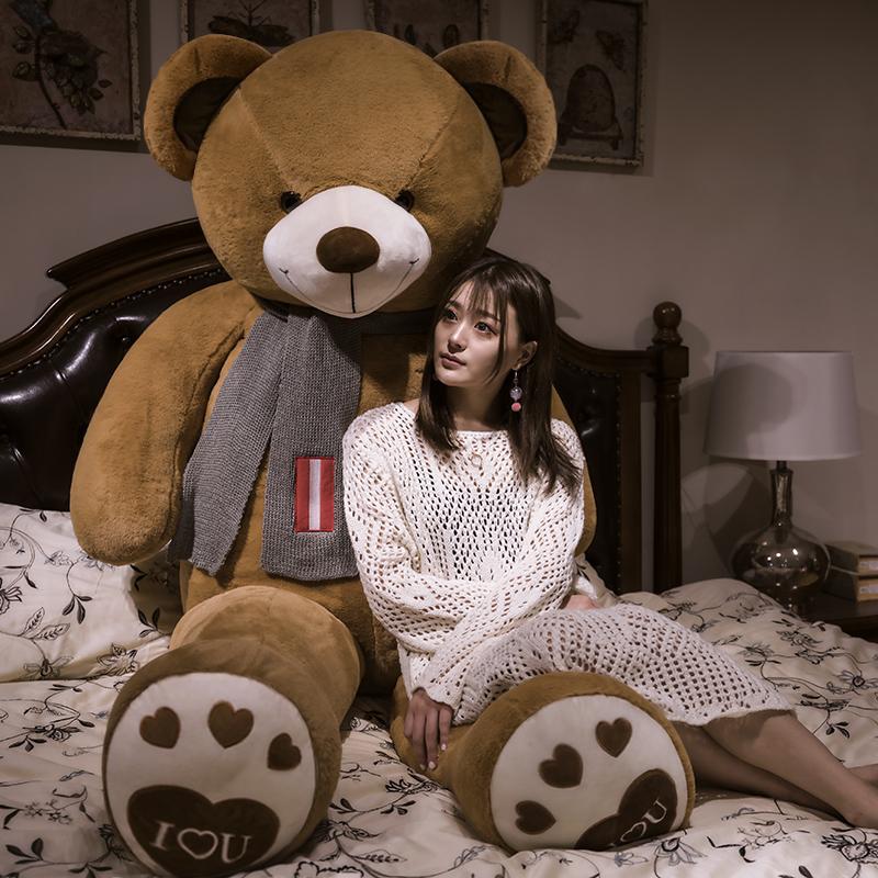 泰迪熊熊猫公仔大号抱抱熊布娃娃大熊毛绒玩具可爱玩偶抱枕送女友