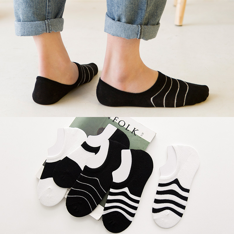 袜子男船袜隐形袜短袜夏季袜套浅口防臭短筒吸汗薄款低帮硅胶防滑