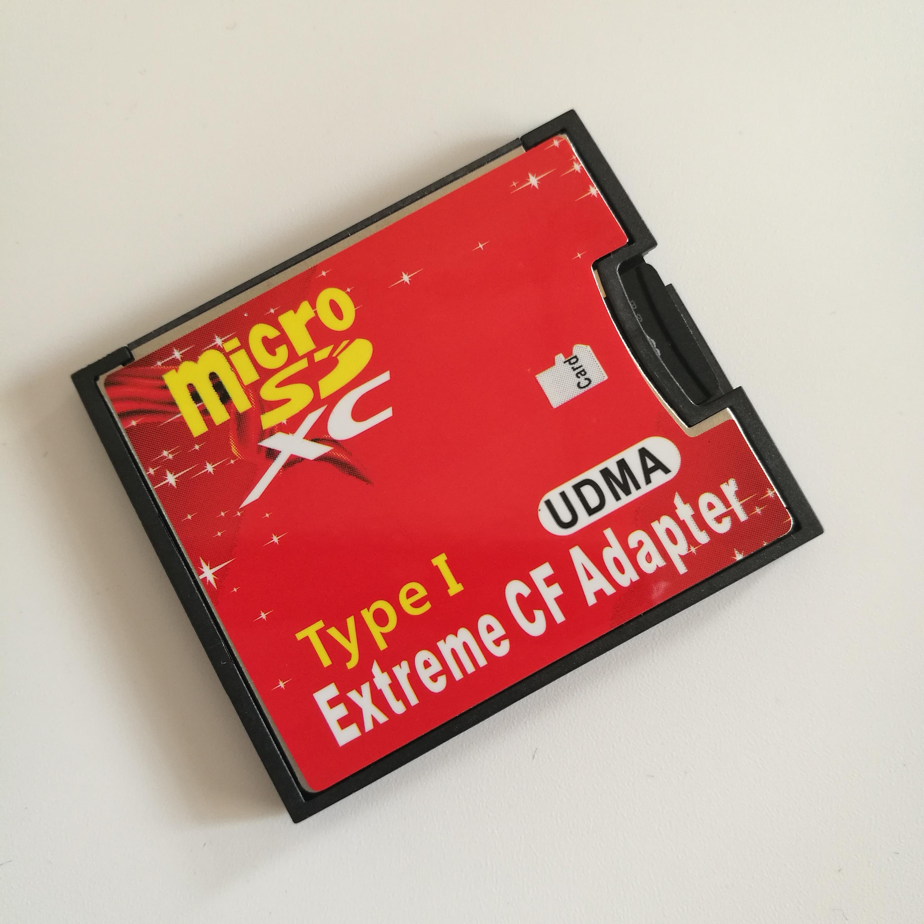 原装MicroSD转CF卡套单TF转CF卡套佳能尼康单反相机专用支持512GB