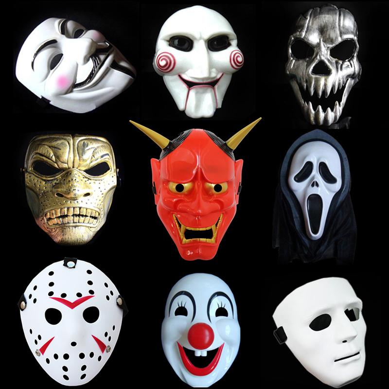 万圣节成人面具恐怖V字仇杀电锯惊魂派对聚会班诺小丑骷髅街舞男