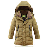 2019 new children's down jacket boys in the long section of children's clothing Korean version of the coat thick white duck down boy western style
