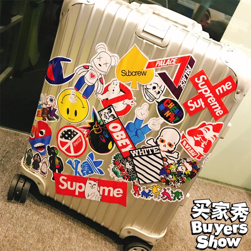 5张一组暴力熊笔记本电脑手机贴纸行李箱旅行箱贴纸冰箱贴防水
