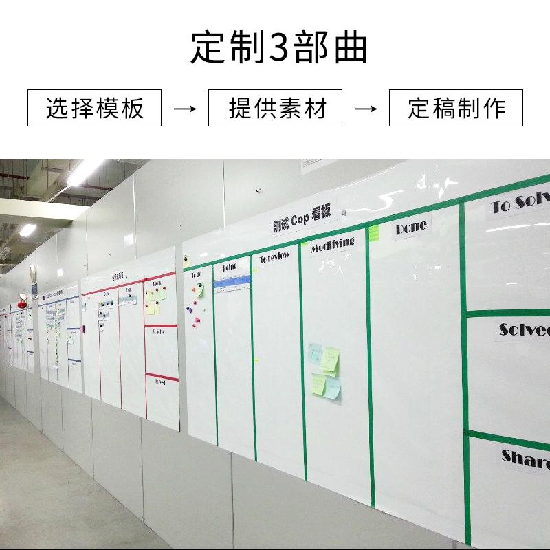 定制业绩榜表宣传通知公告栏墙贴企业文化墙龙虎榜磁性软白板墙贴可擦员工工厂车间生产管理看板