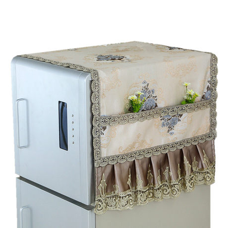 ruffled flower washing machine dust cover protective cover front load dryer durable 60 * 60 * 85 A Washing machine cover automatic drum washing machine cover dustproof and anti-aging