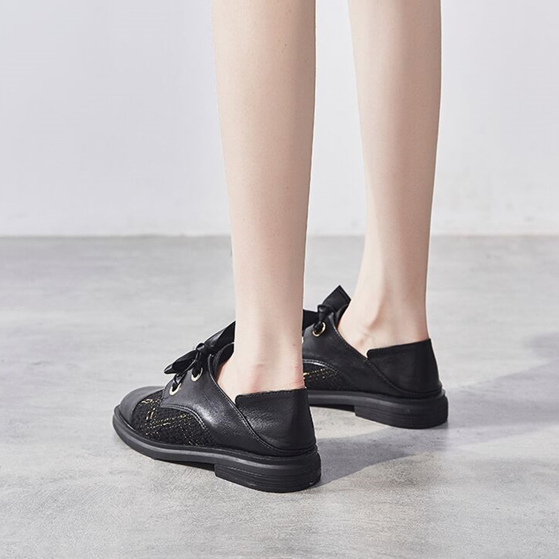 春季新款平底小皮鞋春秋款一脚蹬懒人鞋子百搭女鞋 2020 英伦风单鞋
