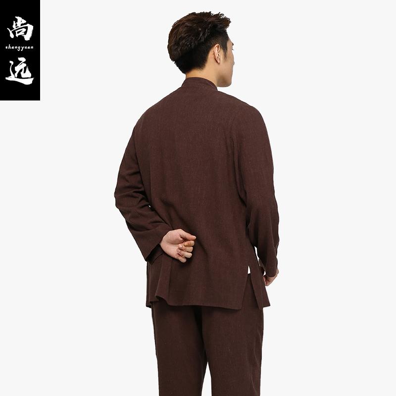 尚远四季款棉麻居士服青年中老年套装唐装汉服居士男女通用禅修服