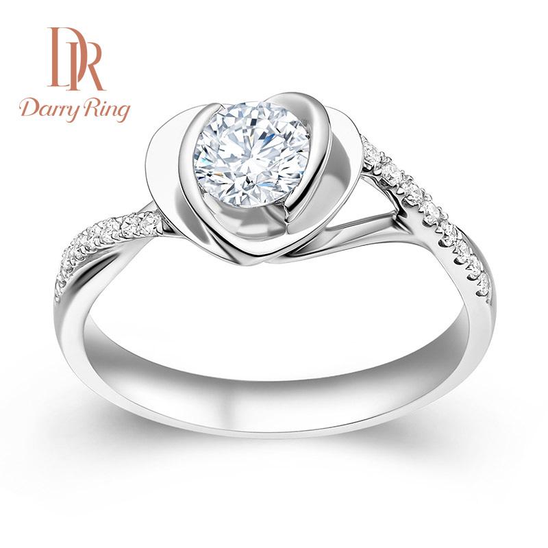 心蓝专柜正品钻石戒指珠宝 求婚钻戒群镶女戒指 DarryRing DR