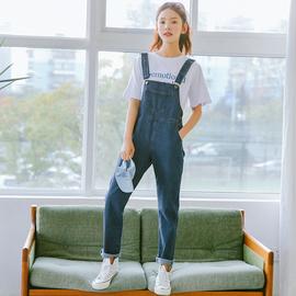 慕兔ins网红减龄牛仔背带裤女2020春装新款韩版森女系宽松裤子潮
