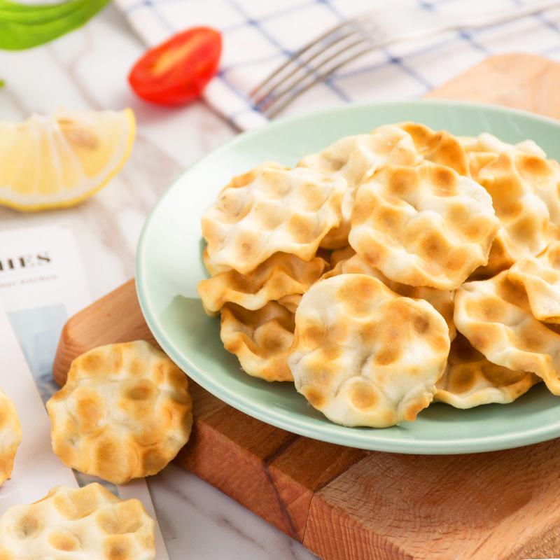 兆辉小石头饼108g石子馍原味麻辣味石子饼零食烤馍片饼干山西特产