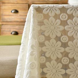 茶几桌布蕾丝餐桌布长方形布艺台布欧式圆家用小清新桌布棉麻盖布