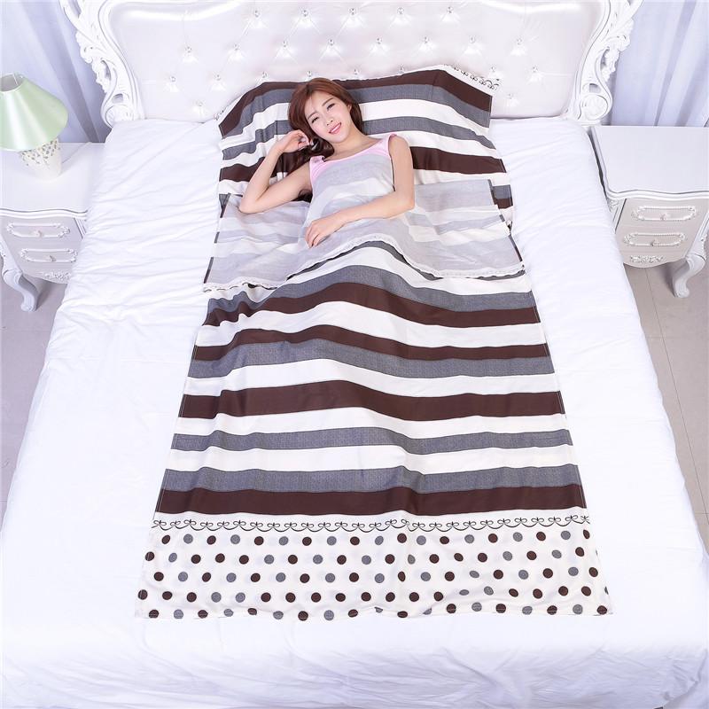 處理 純棉睡袋行動式旅行隔髒成人全棉睡袋酒店衛生內膽單人雙人