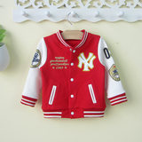 Infant children autumn 0 0-2-3 years old male baby coat spring and autumn foreign tide baby baseball clothing cardigan Korean version