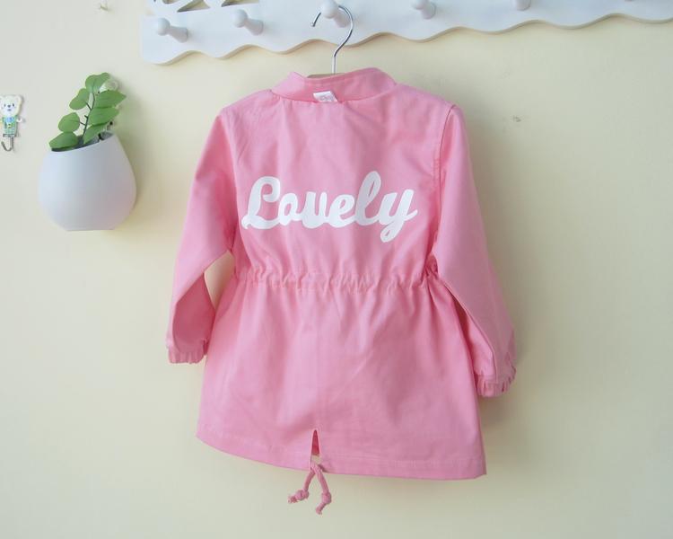 女宝宝风衣外套0一1-2两岁韩版潮中长款婴儿幼儿秋装春秋6-12个月