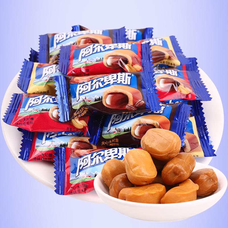 无印良品和名创优品23种零食,(夹心巧克力糖)