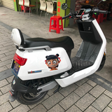 Rebels stickers motorcycle battery electric car stickers cute cartoon character decorative calf small turtle stickers