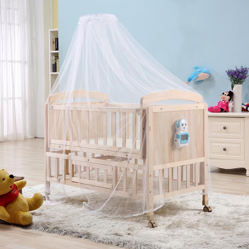 电动婴儿床实木宝宝多功能摇篮智能新生儿自动儿童摇篮床摇窝睡蓝