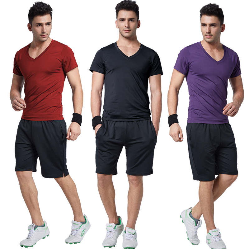 28dd939dd7c2 Buy Road iraqi vatican workout gym sportswear men shorts summer short  sleeve yoga clothes suit appliances specials in Cheap Price on m.alibaba.com