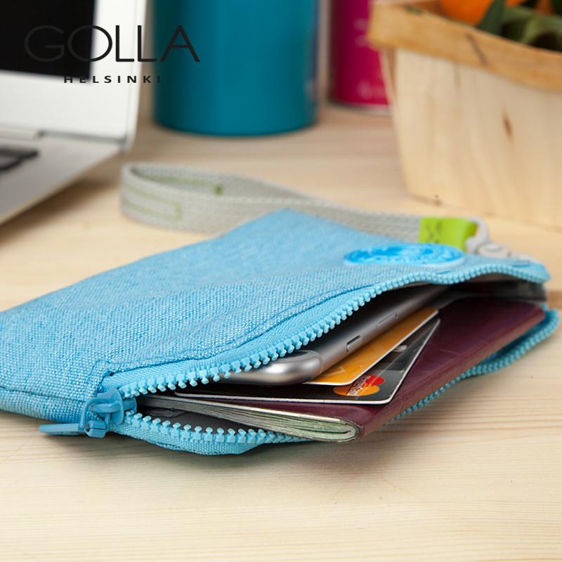 GOLLA手包手抓包女士手拿卡包iPhoneX手腕零錢帆布手機護照小包潮