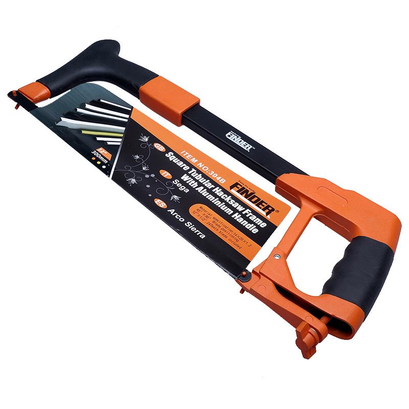 发现者12寸强力型钢锯架铝合金家用小钢锯手工锯弓木工锯子送锯条
