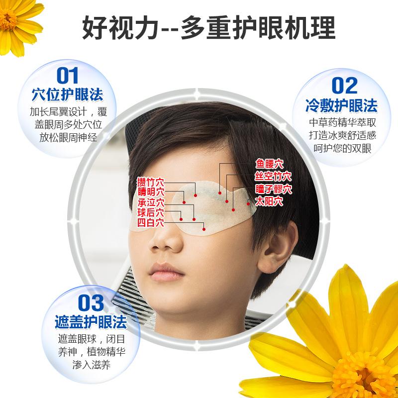 好视力眼贴缓解眼疲劳黄金视力近视模糊正品学生青少年明目护眼膜
