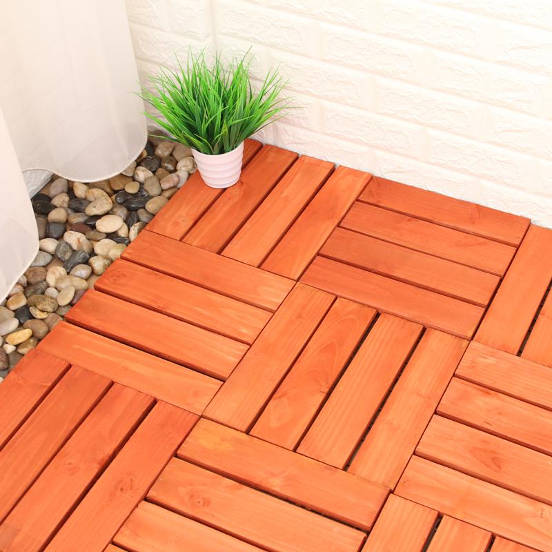 户外碳化防腐纯实木地板露台阳台浴室卫生间防水防滑环保实木地板