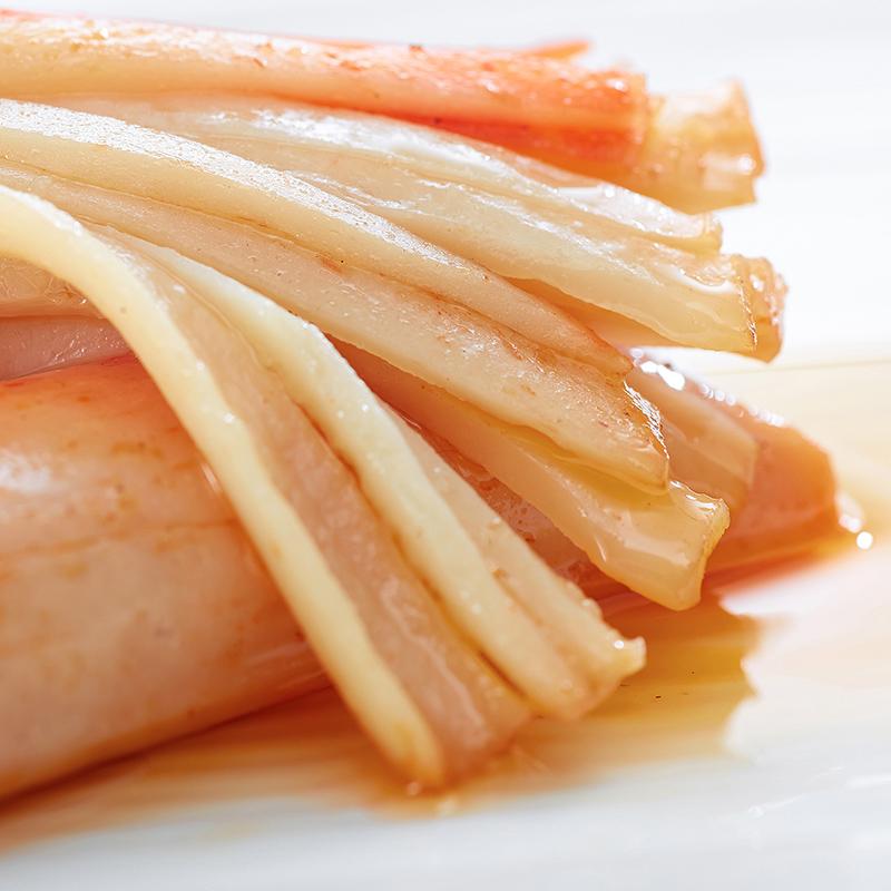 海欣鱼极手撕xo蟹柳即食鱼蟹棒蟹肉棒休闲寿司海鲜零食蟹卷