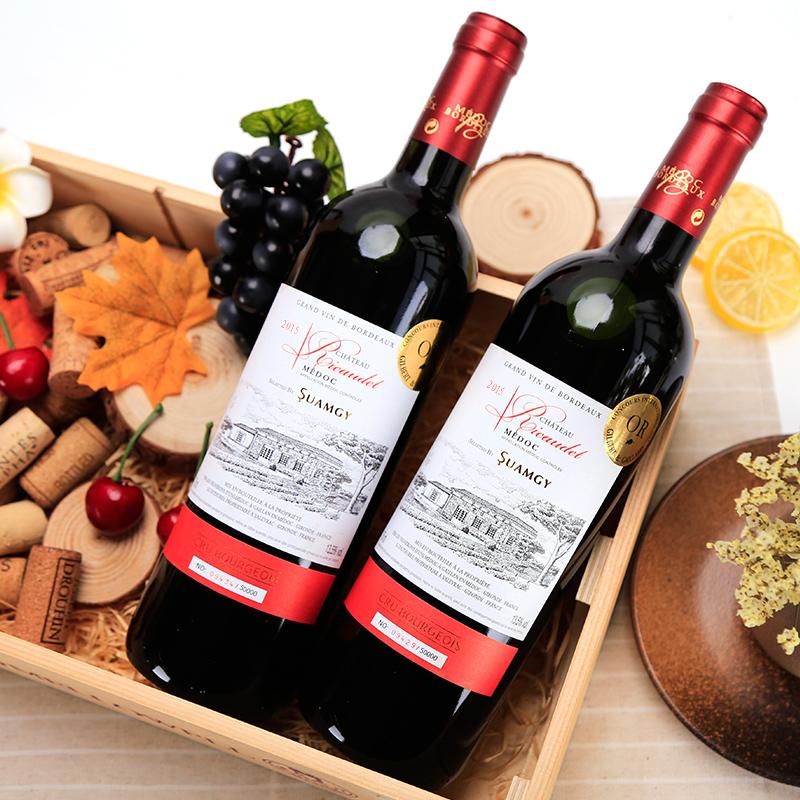 圣芝红酒法国原瓶进口中级庄理卡波尔多干红梅多克AOC整箱葡萄酒