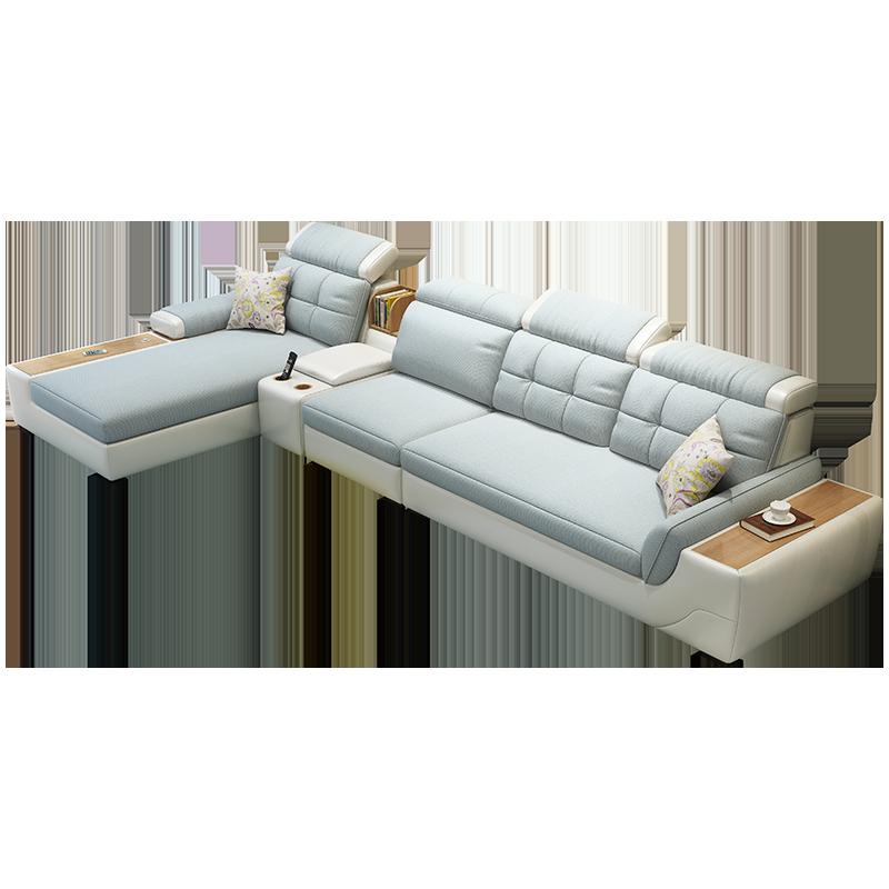 格杰仕北欧布艺沙发现代简约小户型客厅家具整装储物沙发组合