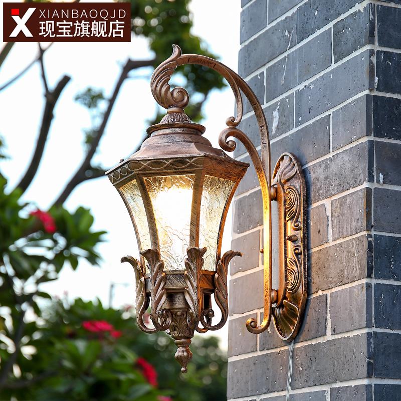 露台灯 led 复古壁灯欧式室外防水墙挂别墅灯户外门口阳台走廊过道