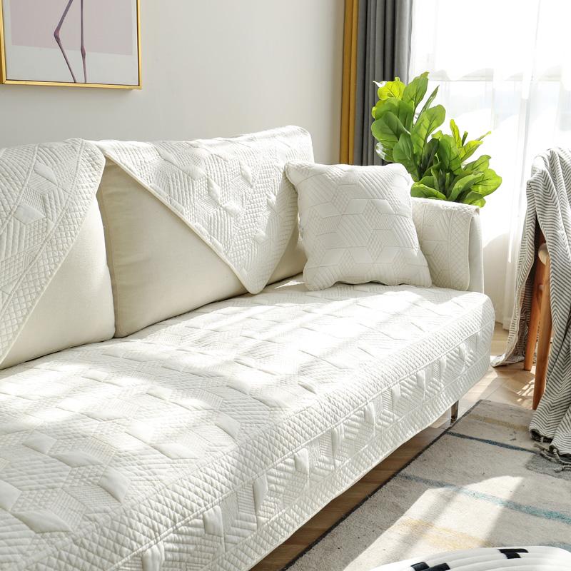 四季全棉沙发垫布艺简约现代实木纯棉夏季皮沙发坐垫冬沙发套巾