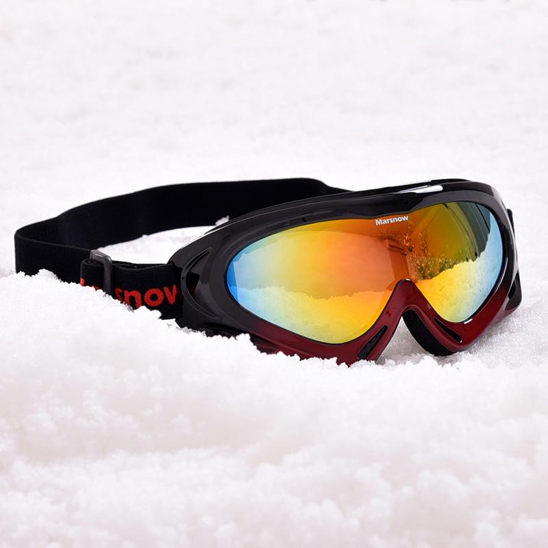 专业户外骑行滑雪镜登山防风滑雪眼镜单层防雾防风登山镜 Marsnow