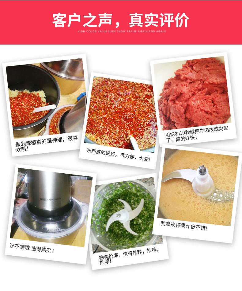 ?金正绞肉机家用电动不锈钢小型搅碎菜肉馅搅拌机多功能剁辣椒机