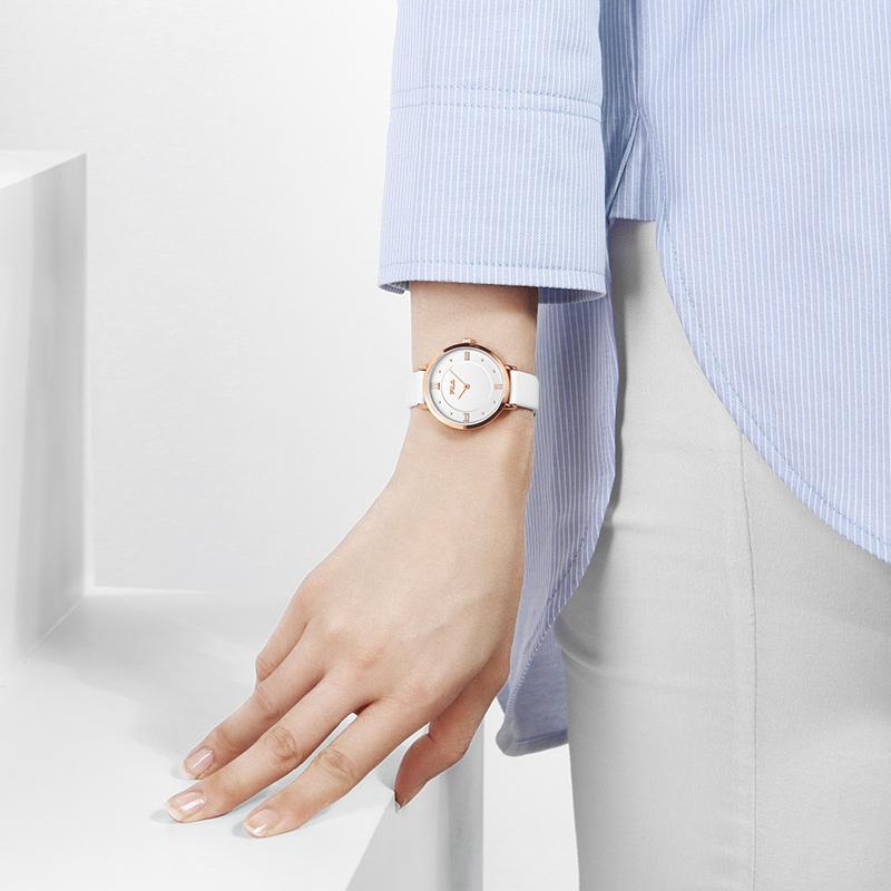 FILA斐乐手表女士石英表超薄简约时尚复古罗马刻度皮带腕表616