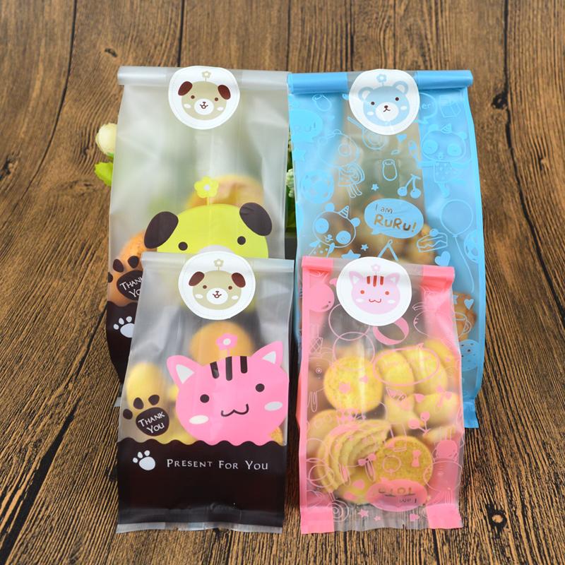 華信天誠 曲奇餅乾包裝袋 卡通可愛蔓越莓牛軋糖餅乾袋糖果食品袋